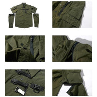 PT-1918 Tactical Jungle Shirt - Aesthetic Homage  | Techwear | Noragi | Lhamo | Men's Kimono