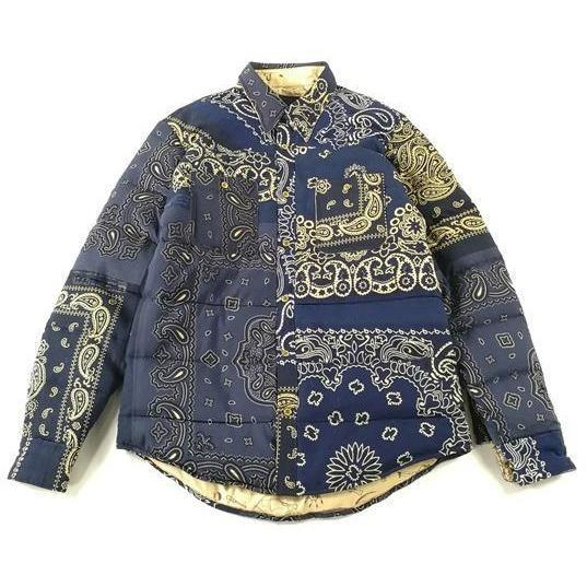 Paisley Patchwork Bandana Down Jacket Aesthetic Homage