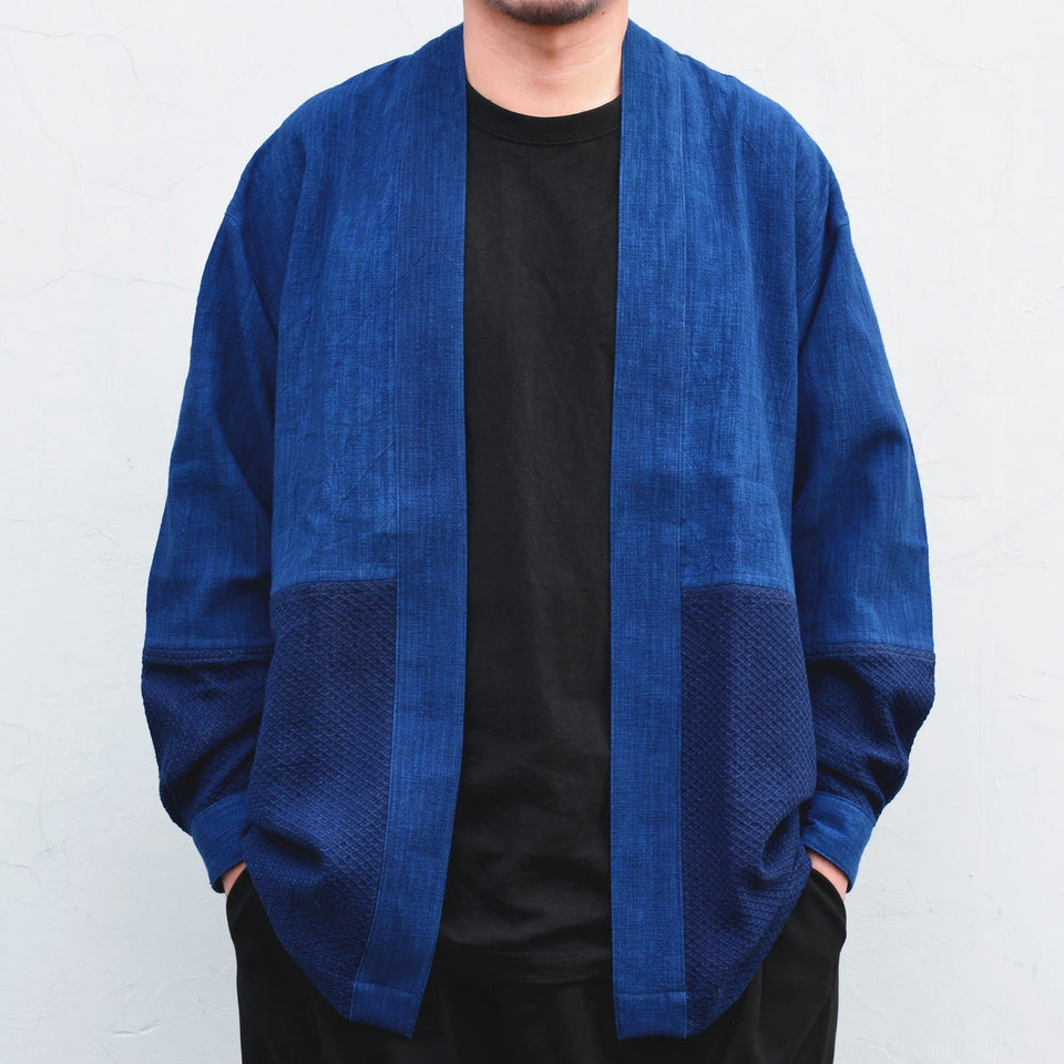 Two-tone Indigo Noragi - Aesthetic Homage