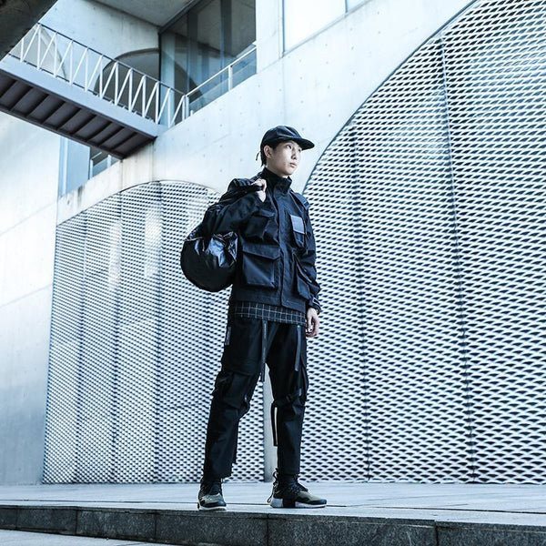 Shadow Sports Jacket - Black - Aesthetic Homage  | Techwear | Noragi | Lhamo | Men's Kimono