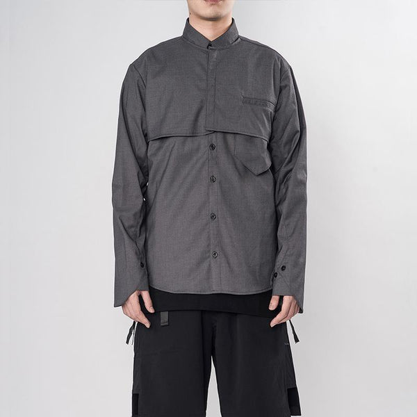 PT-822 Functional Shirt - Aesthetic Homage  | Techwear | Noragi | Lhamo | Men's Kimono