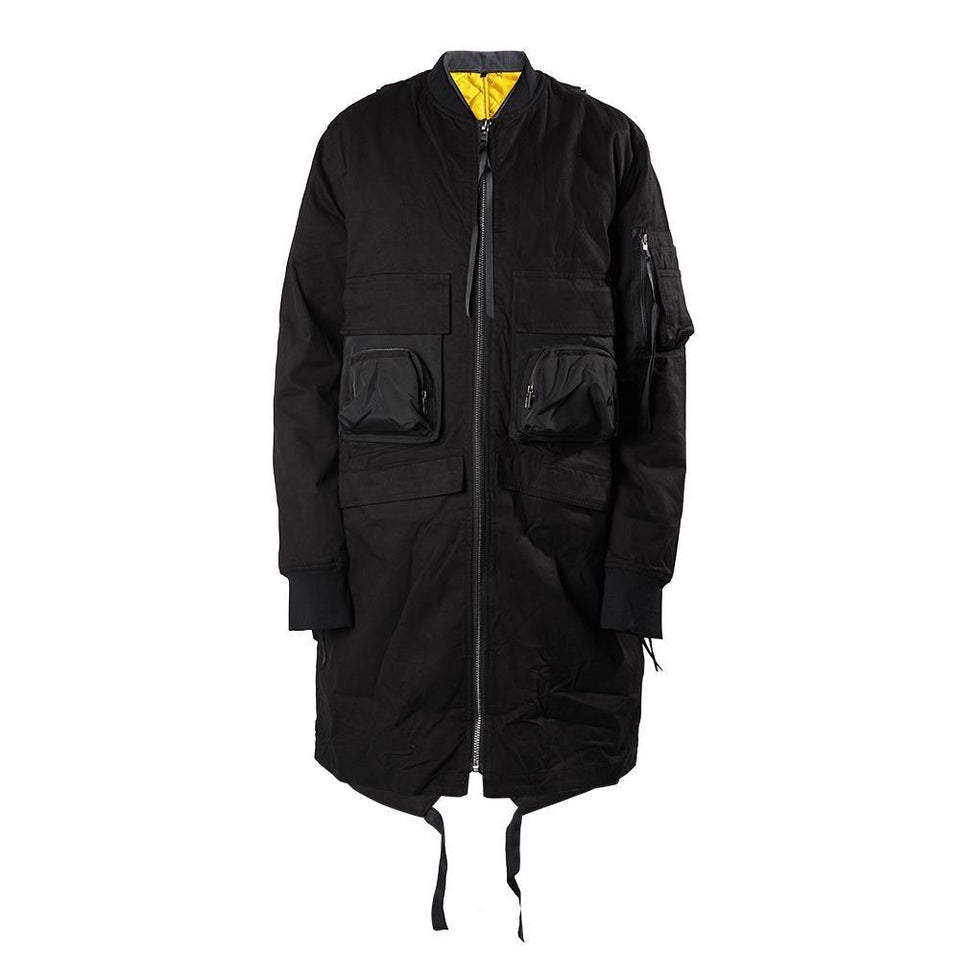 Tactical Long MA-1 - Aesthetic Homage  | Techwear | Noragi | Lhamo | Men's Kimono
