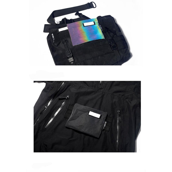 Reflective Molle Coin Bag - Aesthetic Homage  | Techwear | Noragi | Lhamo | Men's Kimono