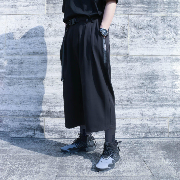 Wide Leg Pants - Aesthetic Homage  | Techwear | Noragi | Lhamo | Men's Kimono