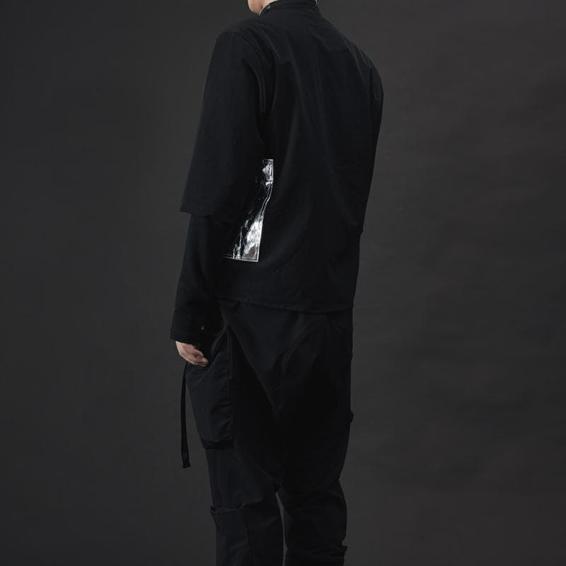 3/4 Sleeve Zip Shirt - Aesthetic Homage  | Techwear | Noragi | Lhamo | Men's Kimono