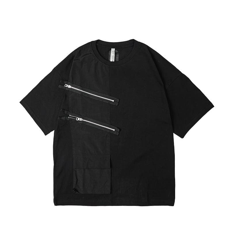 Double Zip Panel T-Shirt