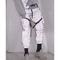 AN-CRA53 Reflective Pants - Aesthetic Homage  | Techwear | Noragi | Lhamo | Men's Kimono
