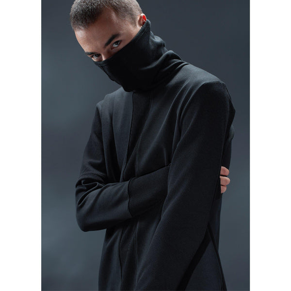 Deconstructed Turtleneck - Aesthetic Homage  | Techwear | Noragi | Lhamo | Men's Kimono