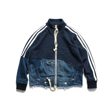 Denim Split Track Jacket