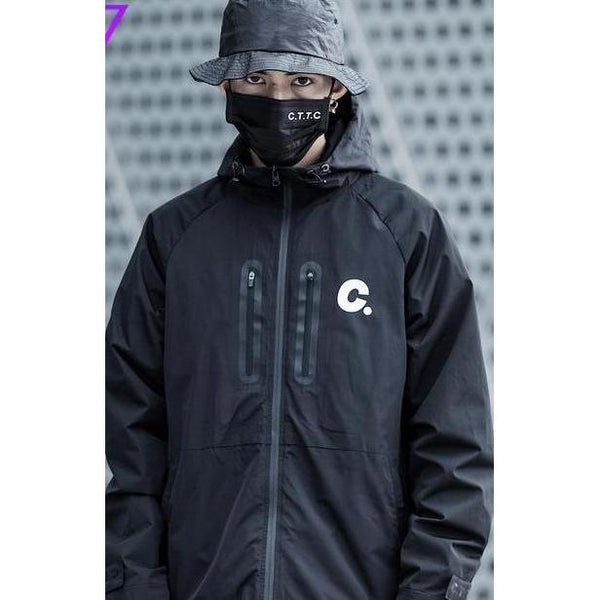 Waterproof Windbreaker - Aesthetic Homage  | Techwear | Noragi | Lhamo | Men's Kimono