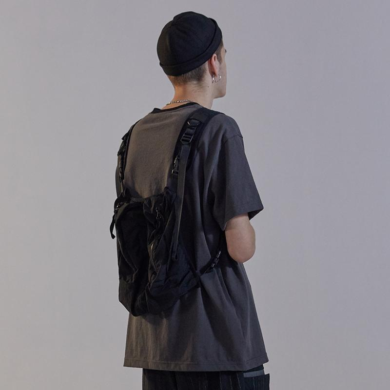 AN-CRA86 Backpack Tee - Aesthetic Homage  | Techwear | Noragi | Lhamo | Men's Kimono