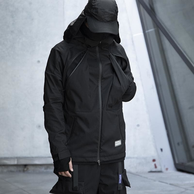 Lightweight Cyber Jacket - Aesthetic Homage  | Techwear | Noragi | Lhamo | Men's Kimono
