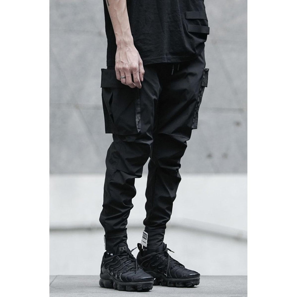 Slim Tactical Cargos - Aesthetic Homage  | Techwear | Noragi | Lhamo | Men's Kimono