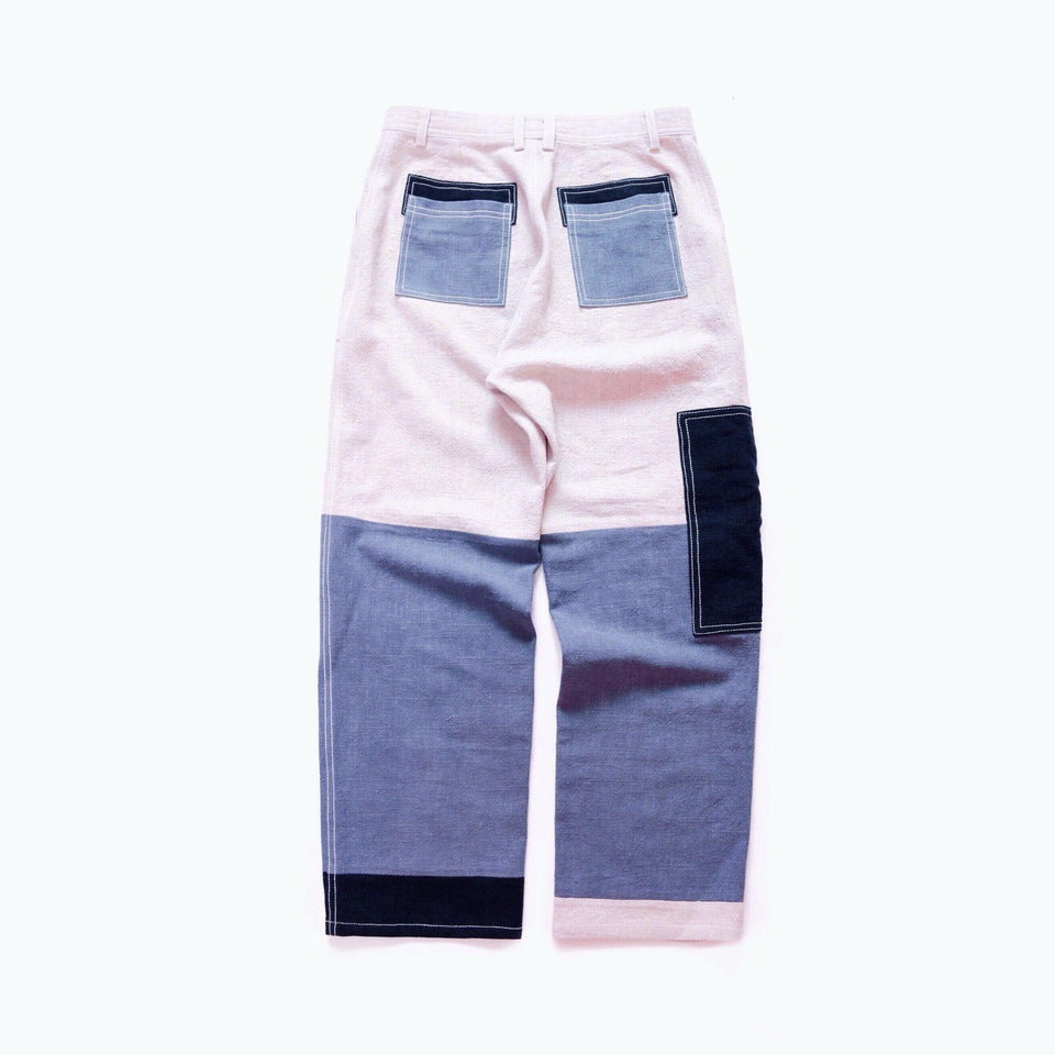 Patchwork French Workwear Pants - Aesthetic Homage
