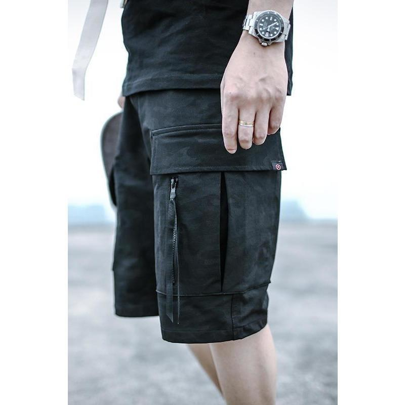 Summer Shorts - Aesthetic Homage  | Techwear | Noragi | Lhamo | Men's Kimono