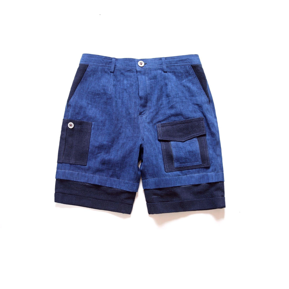 Indigo Fanpin Shorts - Aesthetic Homage