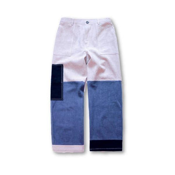 Patchwork French Workwear Pants