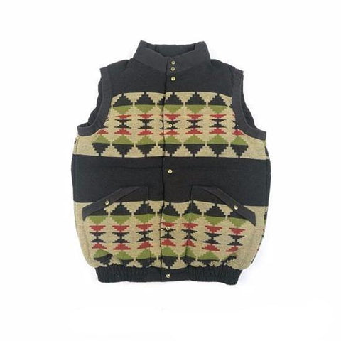 Aboriginal Down Vest - Aesthetic Homage | Noragi | Lhamo