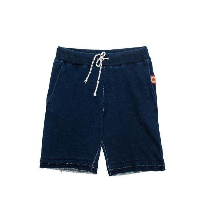 Indigo Terry Cloth Shorts - Aesthetic Homage  | Techwear | Noragi | Lhamo | Men's Kimono