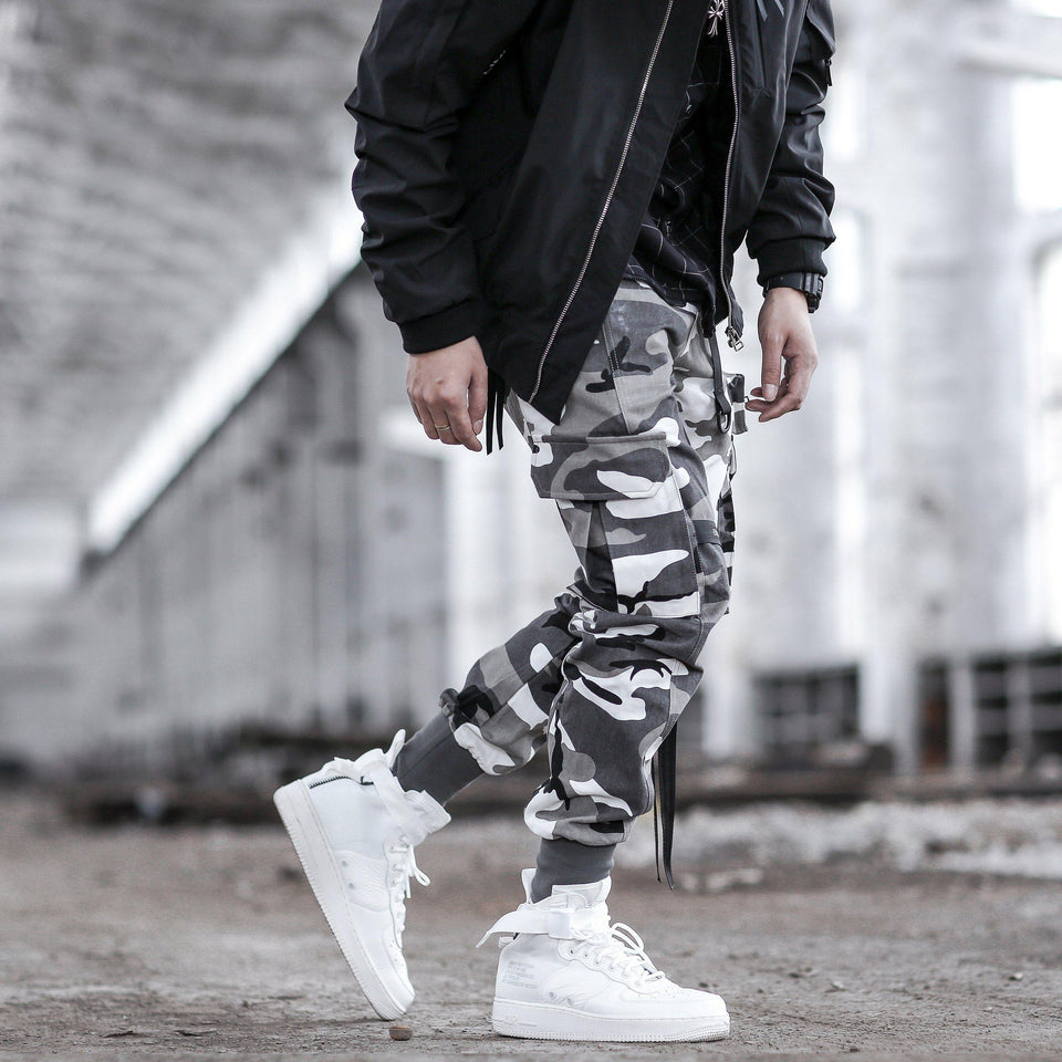 Tactical Cargo Pants - Aesthetic Homage  | Techwear | Noragi | Lhamo | Men's Kimono
