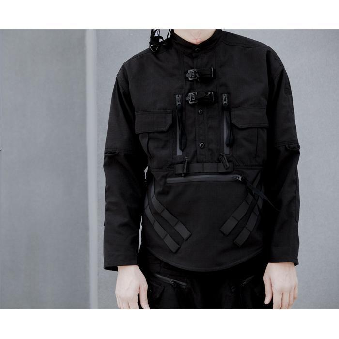 FOG-S05 Tactical Shirt - Aesthetic Homage  | Techwear | Noragi | Lhamo | Men's Kimono