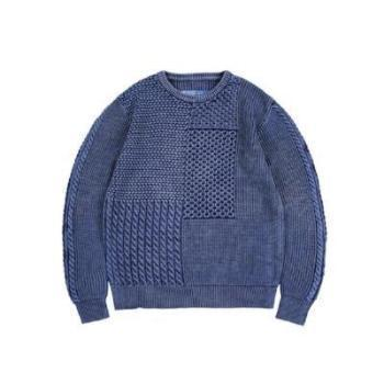 Indigo  Knit Sweater in  - Aesthetic Homage