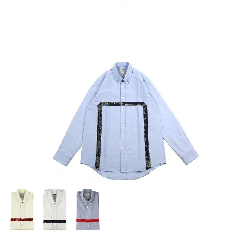 Bandana Square Oxford Shirt - Aesthetic Homage  | Techwear | Noragi | Lhamo | Men's Kimono