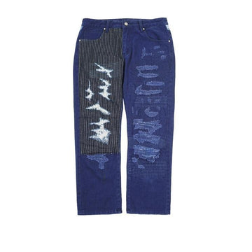 Indigo Patchwork Pants