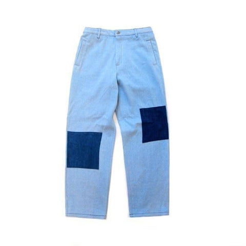 Indigo Patch French Workwear Pants - Aesthetic Homage | Noragi | Lhamo
