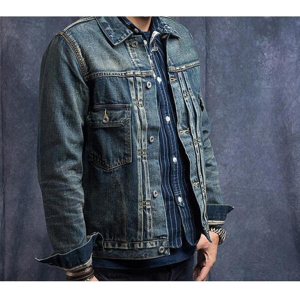 14oz Denim Jacket - Aesthetic Homage  | Techwear | Noragi | Lhamo | Men's Kimono