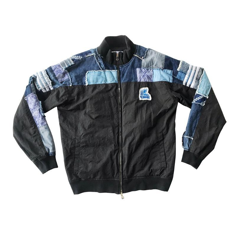 Boro Patch Baseball Jacket - Aesthetic Homage | Noragi | Lhamo