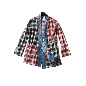 Plaid Patchwork Noragi