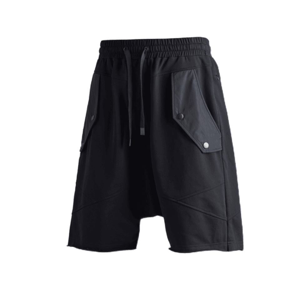 Drop Crotch Terry Knit Shorts
