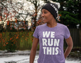 Purple Melange Performance T Ladies