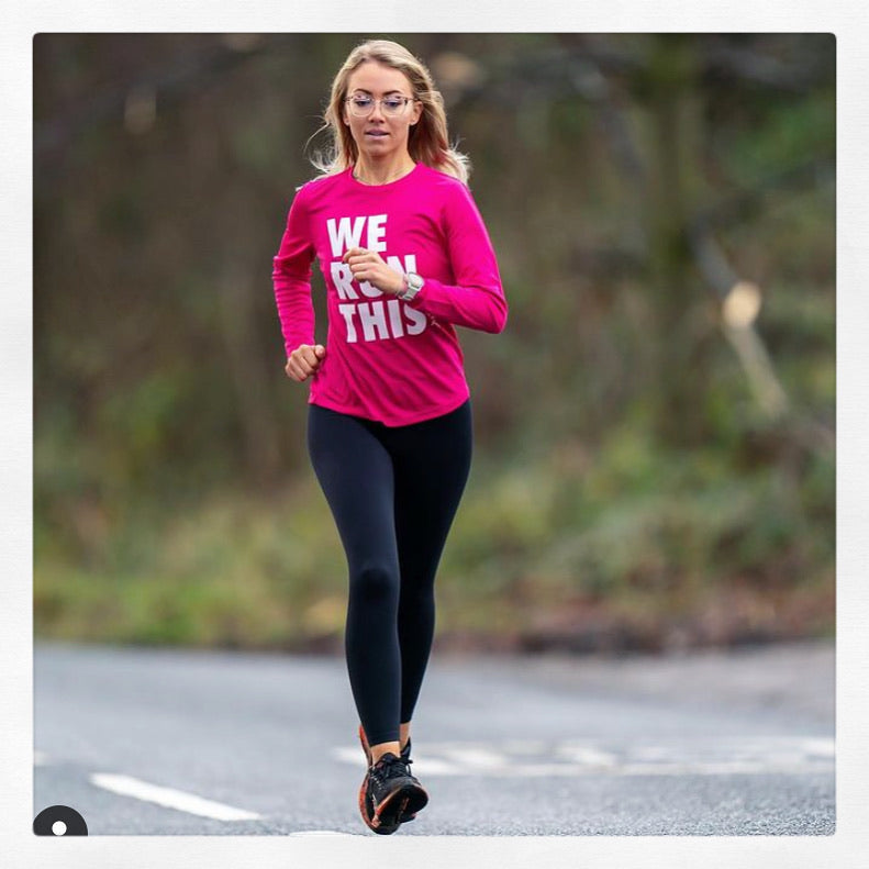 Ladies Pink Long Sleeve