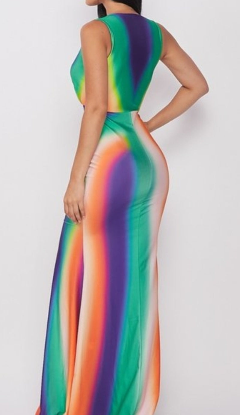 Multi Color Colored Dress