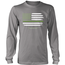 Thin Green Line Longsleeve Tee (Dark Colors)