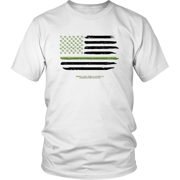 Thin Green Line Tee (White)