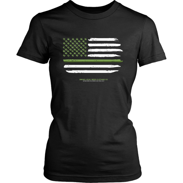 Thin Green Line Women's Tee (Dark Colors)