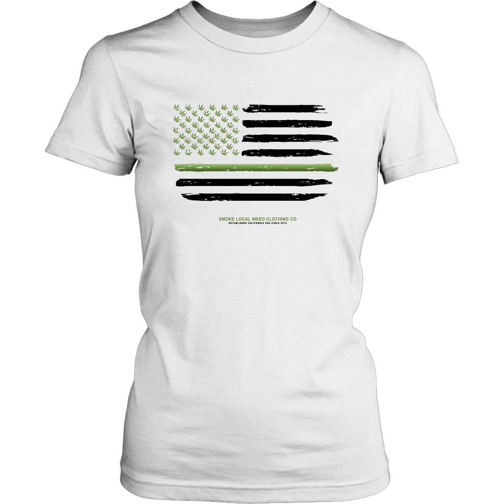 Thin Green Line Women's Tee (White)