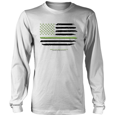 Thin Green Line Longsleeve Tee (White)