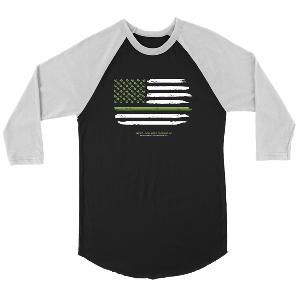 Thin Green Line Baseball Tee