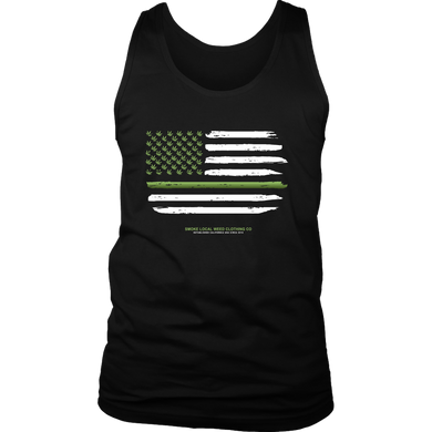 Thin Green Line Tank (Dark Colors)