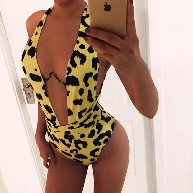 Leoparr Swimsuit in Yellow