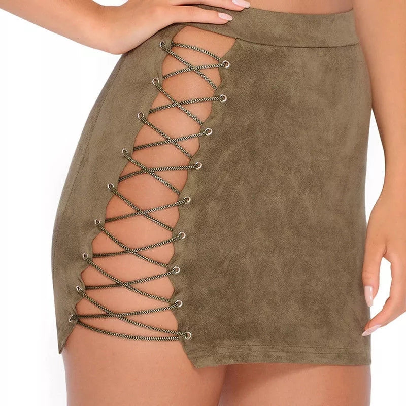 Party Till Morning Two Piece Set In Khaki