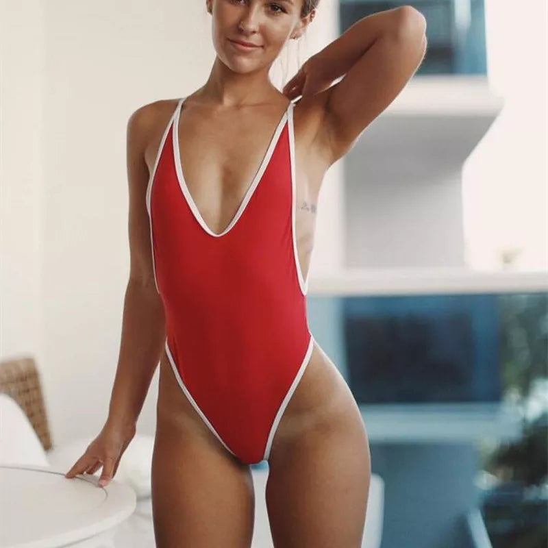 Vicky Monokini in Red