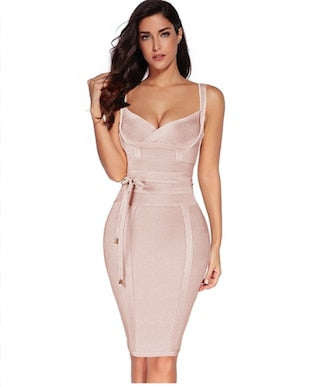 Jennifer Light Pink Bandage Dress