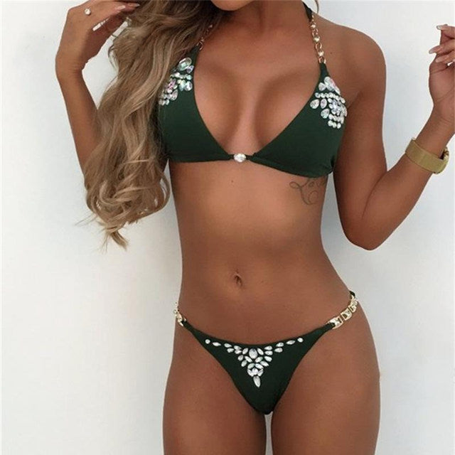 JRB Two Piece Bikini in Green