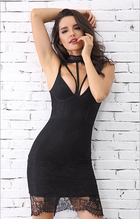 Aries Black Bandage Dress