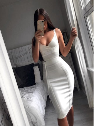 Jennifer White Bandage Dress